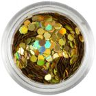 Hologramový ozdobný šesťhran - zlatý, 2mm