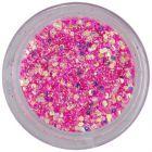Holografický šesťhran v prášku - sýto ružový, 1mm