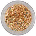 Šesťhran v prášku - sýto zlatý, 1mm