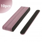 10ks - Pilník čierny s ružovým stredom, 100/180 - rovný