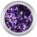 1,5mm hologramové flitre - fialové šesťhrany