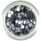 Hologramové konfety, 3mm - strieborné šesťhrany