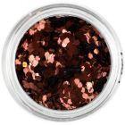 1mm ozdobné konfety - medené šesťhrany