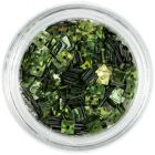 Olivovo zelený štvorček s dierkou - hologramový