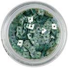 Hologramové konfety s dierkou - oceľovo modré štvorčeky