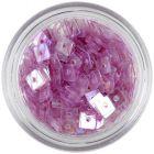 Priehľadné štvorčeky s dierkou - svetlofialové