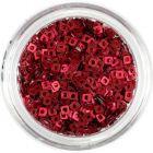Malé štvorčeky s dierkou - tmavočervené