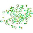 Flitre - kvietky obrysové, zelené - hologram