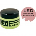 COVER PINK - kamuflážny LED gél - RICH BROWN PINK, 9g