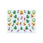 Nálepky na nechty s vianočným motívom - 037