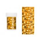 Ozdobná fólia na nechty - zlatá s odleskami nepravidelných tvarov