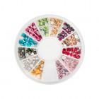 SWAROVSKI ozdobné kamienky na nechty – mix, 3mm