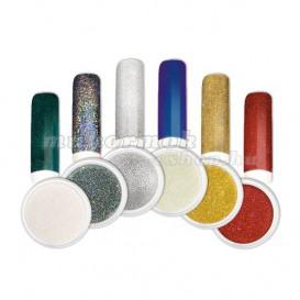 Ozdobný prášok - Sada farebných mirror práškov č. 2