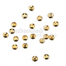 Nail art ozdoby 1,5mm - 20ks guľaté kamienky v sáčku, zlatožlté
