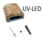 Kombinovaná LED UV lampa na gélové nechty so zvieracím vzorom – 36W