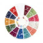 Nail art ozdoby – kamienky diamanty – rôzne farby, 3mm