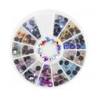 Nail art ozdoby – kamienky 3mm – rôzne farby s AB efektom