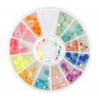 Nail art ozdoby – kamienky 4mm – rôzne farby s AB efektom