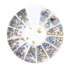 Nail art ozdoby – kamienky mix – zlaté