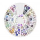 Nail art ozdoby – kamienky 4mm - rôzne farby s AB efektom