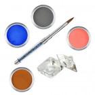 Sada Pure I- sada farebných akrylových práškov
