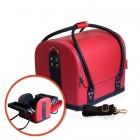 Kozmetický rozkladací kufrík - RED/BLACK