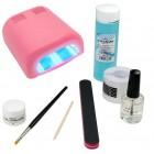 1-fázový UV gel systém - sada BASIC, 36W ružová UV lampa