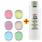 Sada Pastel Color 6ks + Acryl Liquid 100ml ZADARMO