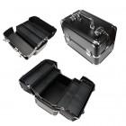 Rozkladací kozmetický kufrík - čierny
