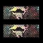 Ozdobná fólia na nechty - holografická s motívom hadej kože