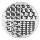 Doštička na pečiatkovanie nechtov DXE17 - Halloween