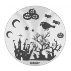 Doštička na pečiatkovanie nechtov DXE07 - Halloween
