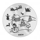 Doštička na pečiatkovanie nechtov DXE34 - Vianoce