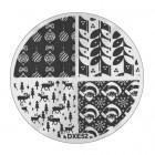 Doštička na pečiatkovanie nechtov DXE52 - Vianoce