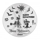 Doštička na pečiatkovanie nechtov DXE01 - Halloween