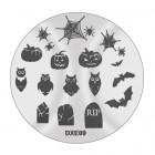 Doštička na pečiatkovanie nechtov DXE09 - Halloween