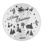 Doštička na pečiatkovanie nechtov DXE41 - Vianoce