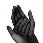 Čierne jednorazové rukavice S/10ks