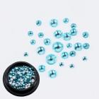 Swarovski kryštáliky na nail art 1-5mm - sky blue