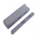 10ks-Pilník na nechty, sivý rovný s čiernym stredom, umývateľný a dezinfikovateľný 150/150