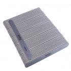 50ks-Pilník na nechty, sivý rovný s čiernym stredom, umývateľný a dezinfikovateľný 150/150