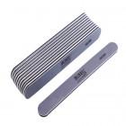 10ks-Pilník na nechty, sivý rovný s čiernym stredom, umývateľný a dezinfikovateľný 280/280