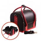Kozmetický rozkladací kufrík - BLACK/RED