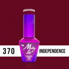 MOLLY LAC UV/LED gél lak Pin Up Girl - Independence 370, 10ml