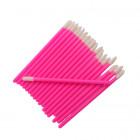Velúrový aplikátor na oči a riasy - ružový, 50ks