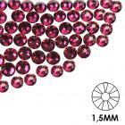 Ozdobné kamienky na nechty - 1,5mm - cyklamenovo ružové, 50ks