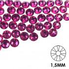 Ozdobné kamienky na nechty - 1,5mm - ružové, 50ks