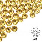 Ozdobné kamienky na nechty - MIX - zlatej farby, 100ks