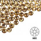 Ozdobné kamienky na nechty - MIX - zlaté, 100ks