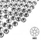Ozdobné kamienky na nechty - MIX - strieborné, 100ks